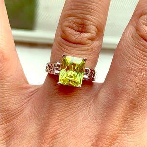 Lia Sophia princess cut ring